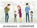 air pollution   cartoon people... | Shutterstock .eps vector #1230640468