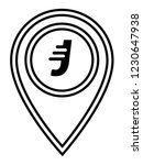 letter j and map pin. logo...