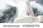 view from backside of yacht in... | Shutterstock . vector #1230650755