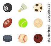 dribble icons set. cartoon set... | Shutterstock .eps vector #1230656188