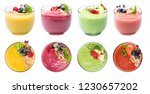set of smoothies milkshake... | Shutterstock . vector #1230657202