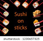traditional japanese food. set... | Shutterstock . vector #1230657325