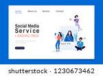 social media service landing... | Shutterstock .eps vector #1230673462
