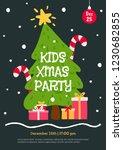 kids christmas party invitation ... | Shutterstock .eps vector #1230682855