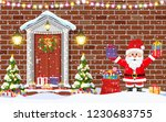 house door decoration for the... | Shutterstock .eps vector #1230683755