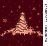 2d illustration. snowflakes on... | Shutterstock . vector #1230685105