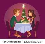 sweet happy couple having... | Shutterstock .eps vector #1230686728