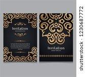 luxury gold ornamental  wedding ... | Shutterstock .eps vector #1230687772