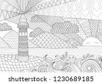coloring page. coloring book... | Shutterstock .eps vector #1230689185