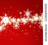 2d illustration. snowflakes on... | Shutterstock . vector #1230696505