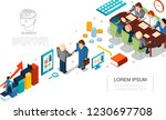 isometric business elements set | Shutterstock .eps vector #1230697708