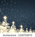 2d illustration. snowflakes on ... | Shutterstock . vector #1230703075