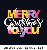 winter holidays   hand drawn... | Shutterstock .eps vector #1230714628