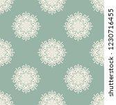 seamless decorative vector... | Shutterstock .eps vector #1230716455
