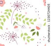 flower pollen pattern. seamless ...   Shutterstock .eps vector #1230724405