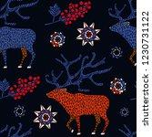christmas seamless pattern...   Shutterstock .eps vector #1230731122