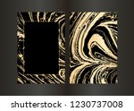 set of vector black and gold... | Shutterstock .eps vector #1230737008