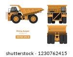 mining dumper on white... | Shutterstock .eps vector #1230762415