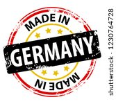 made in the germany rubber... | Shutterstock .eps vector #1230764728