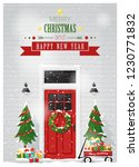 merry christmas and happy new... | Shutterstock .eps vector #1230771832