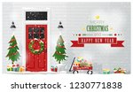 merry christmas and happy new... | Shutterstock .eps vector #1230771838