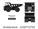 silhouette of mining dumper on... | Shutterstock .eps vector #1230772732