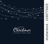 minimalist christmas flyer ... | Shutterstock .eps vector #1230773425