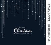 minimalist christmas flyer ... | Shutterstock .eps vector #1230773428