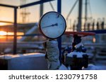 gas valves  crane and pipes for ... | Shutterstock . vector #1230791758