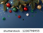 christmas holiday composition.... | Shutterstock . vector #1230798955
