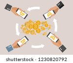 mobile bitcoin business with... | Shutterstock .eps vector #1230820792