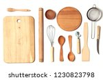 different kitchenware on a... | Shutterstock . vector #1230823798