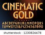 Vector Alphabet Of Golden...
