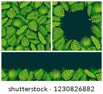 tropical leaves background.... | Shutterstock .eps vector #1230826882