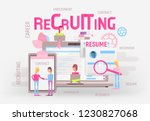 modern flat design hiring  job... | Shutterstock .eps vector #1230827068