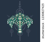 sacred geometry design with the ... | Shutterstock .eps vector #1230827425