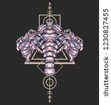 sacred geometry design with the ... | Shutterstock .eps vector #1230827455