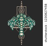 sacred geometry design with the ... | Shutterstock .eps vector #1230827458
