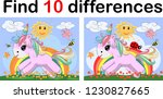 find the difference the two... | Shutterstock .eps vector #1230827665