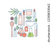 organic cosmetics collection.... | Shutterstock .eps vector #1230833062