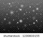 falling snowflakes on a... | Shutterstock .eps vector #1230833155