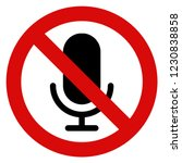 no recording sign vector | Shutterstock .eps vector #1230838858