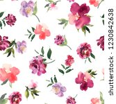 floral seamless pattern with... | Shutterstock . vector #1230842638