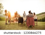 group of young happy friends... | Shutterstock . vector #1230866275