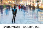the black dummy standing on the ... | Shutterstock . vector #1230893158