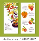 organic healthy food with... | Shutterstock .eps vector #1230897022