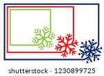 multi colored set border frame... | Shutterstock .eps vector #1230899725