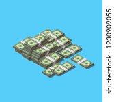 vector isometric heap of money... | Shutterstock .eps vector #1230909055