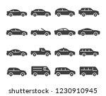 set of car icon vector | Shutterstock .eps vector #1230910945