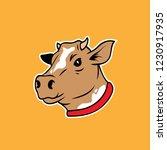 cow head emblem logo label.... | Shutterstock .eps vector #1230917935